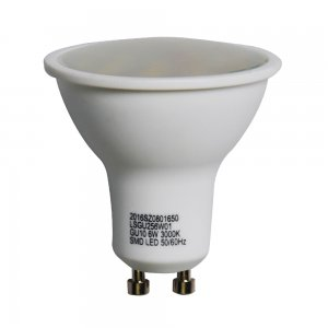 6W GU10 LED Spotlight Bulbs Plastic Shell 330LM Super Bright