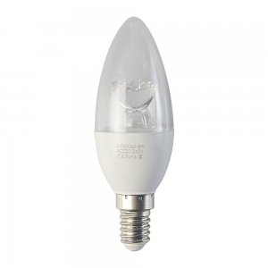 8W E14 LED Candelabra Light Bulb 540LM Plastic Shell