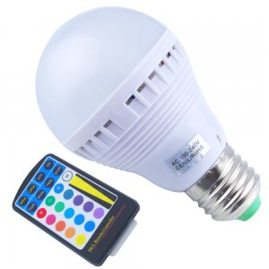 5W E27 RGB LED Light Bulb 230LM With Control Remote