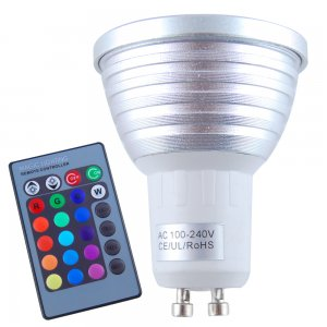 3W GU10 RGB LED Spotlight Bulbs Super Bright Control Remote